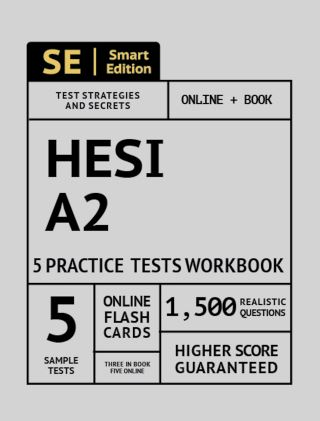 HESI A2 5 Practice Tests Workbook