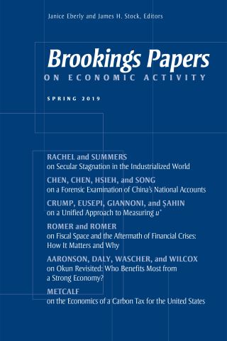 Brookings Papers on Economic Activity: Spring 2019