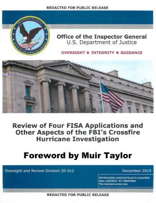 Inspector General Horowitz's Report on the Review of FISA Applications