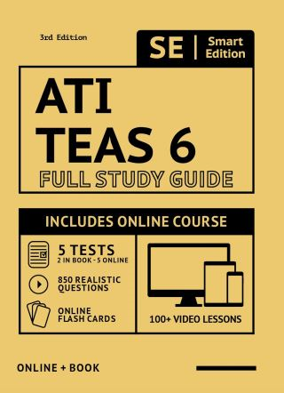 ATI TEAS 6 Full Study Guide in Color 3rd Edition 2020-2021