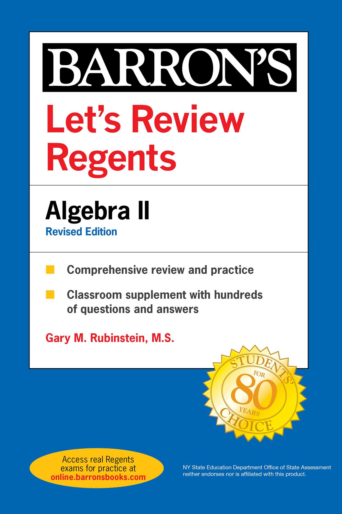 Let's Review Regents: Algebra II Revised Edition
