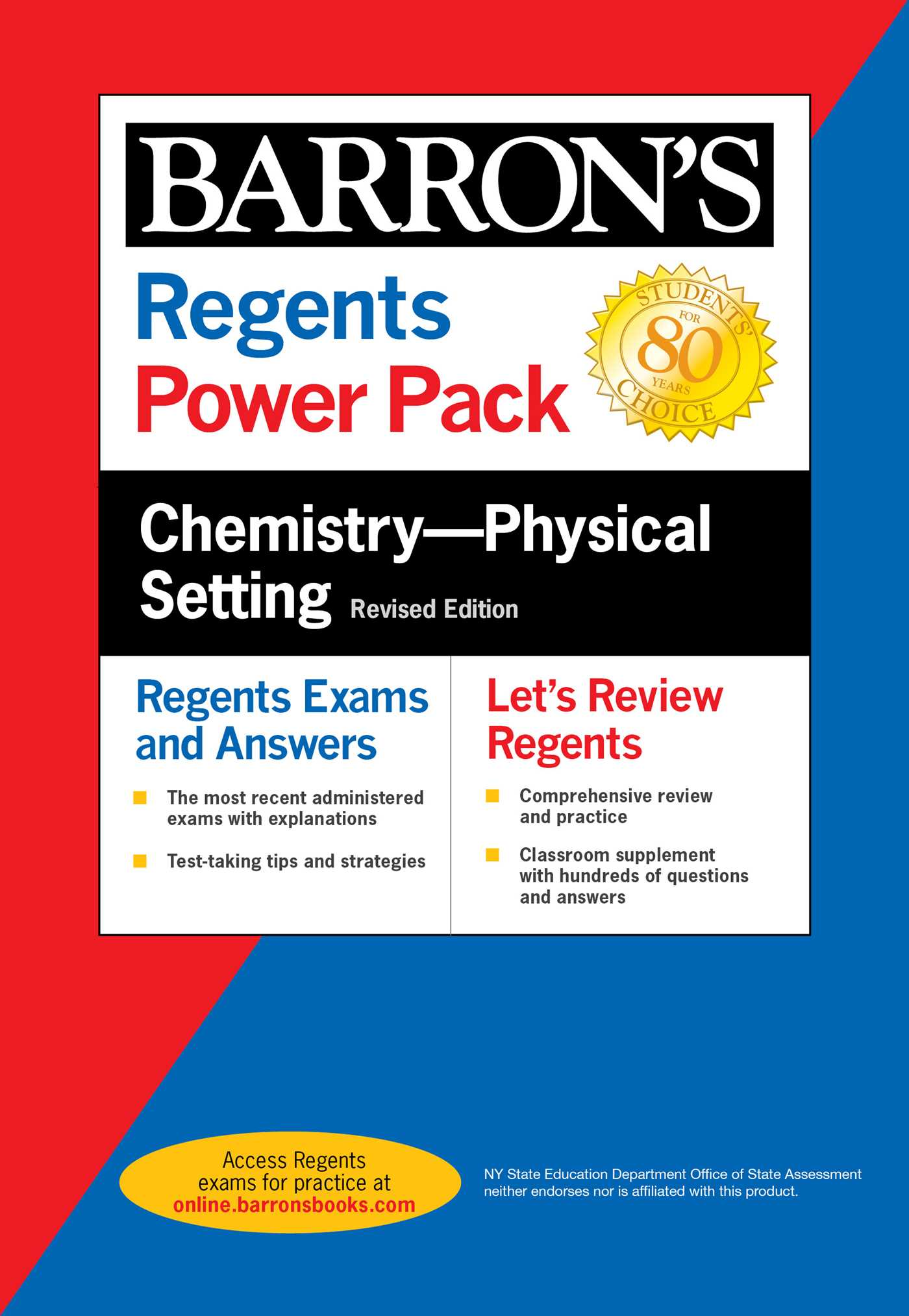 Regents Chemistry--Physical Setting Power Pack Revised Edition