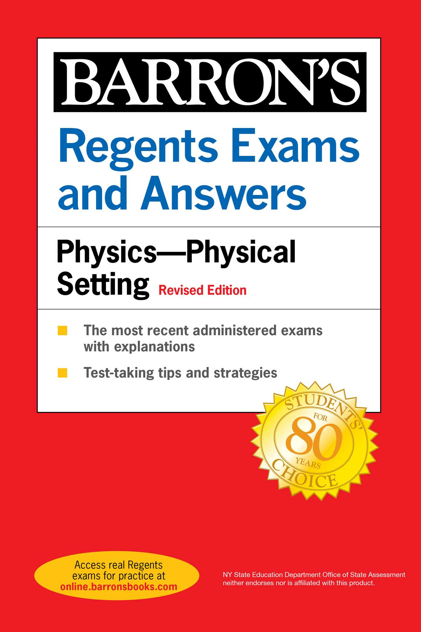 Regents Exams and Answers Physics Physical Setting Revised Edition
