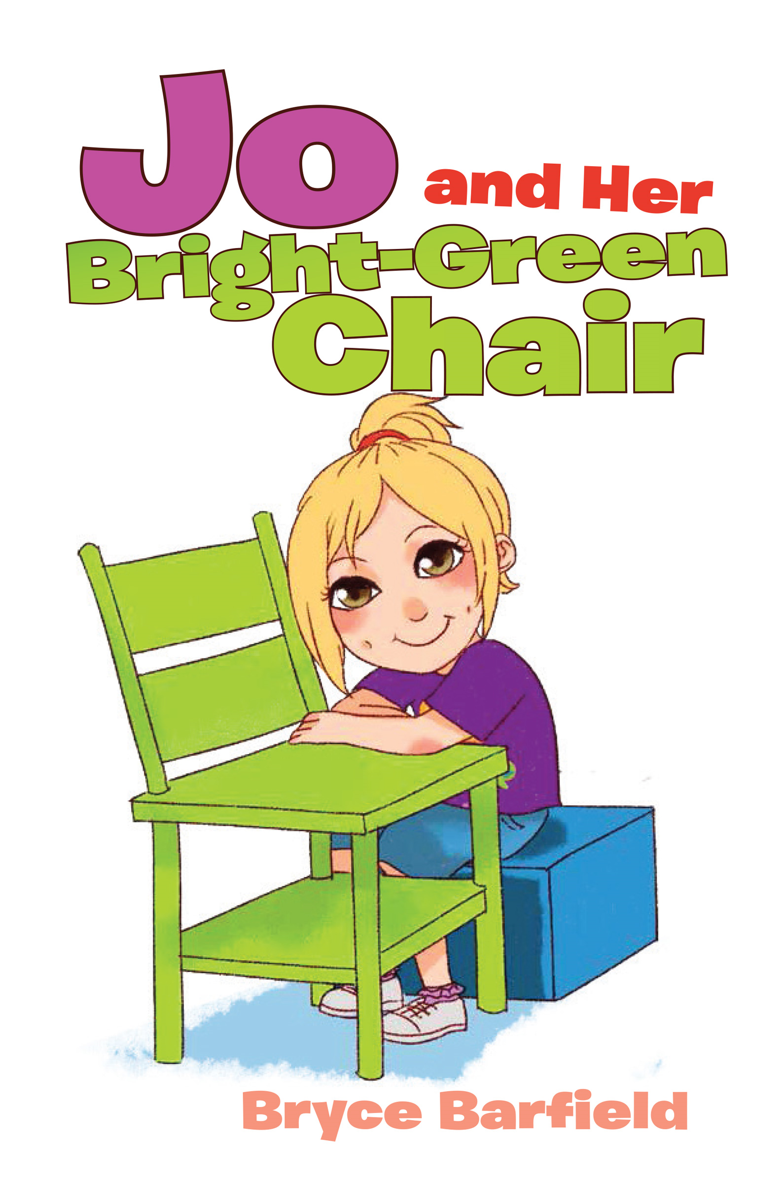 Jo and Her Bright Green Chair