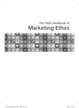 The SAGE Handbook of Marketing Ethics