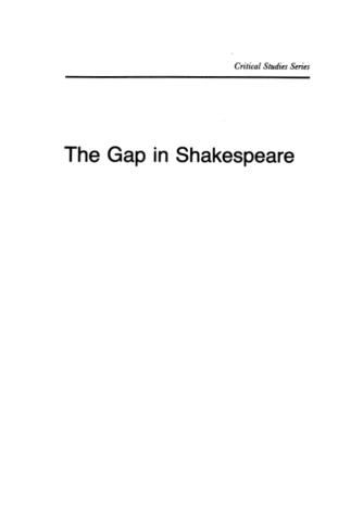 The Gap in Shakespeare