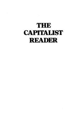 The Capitalist Reader