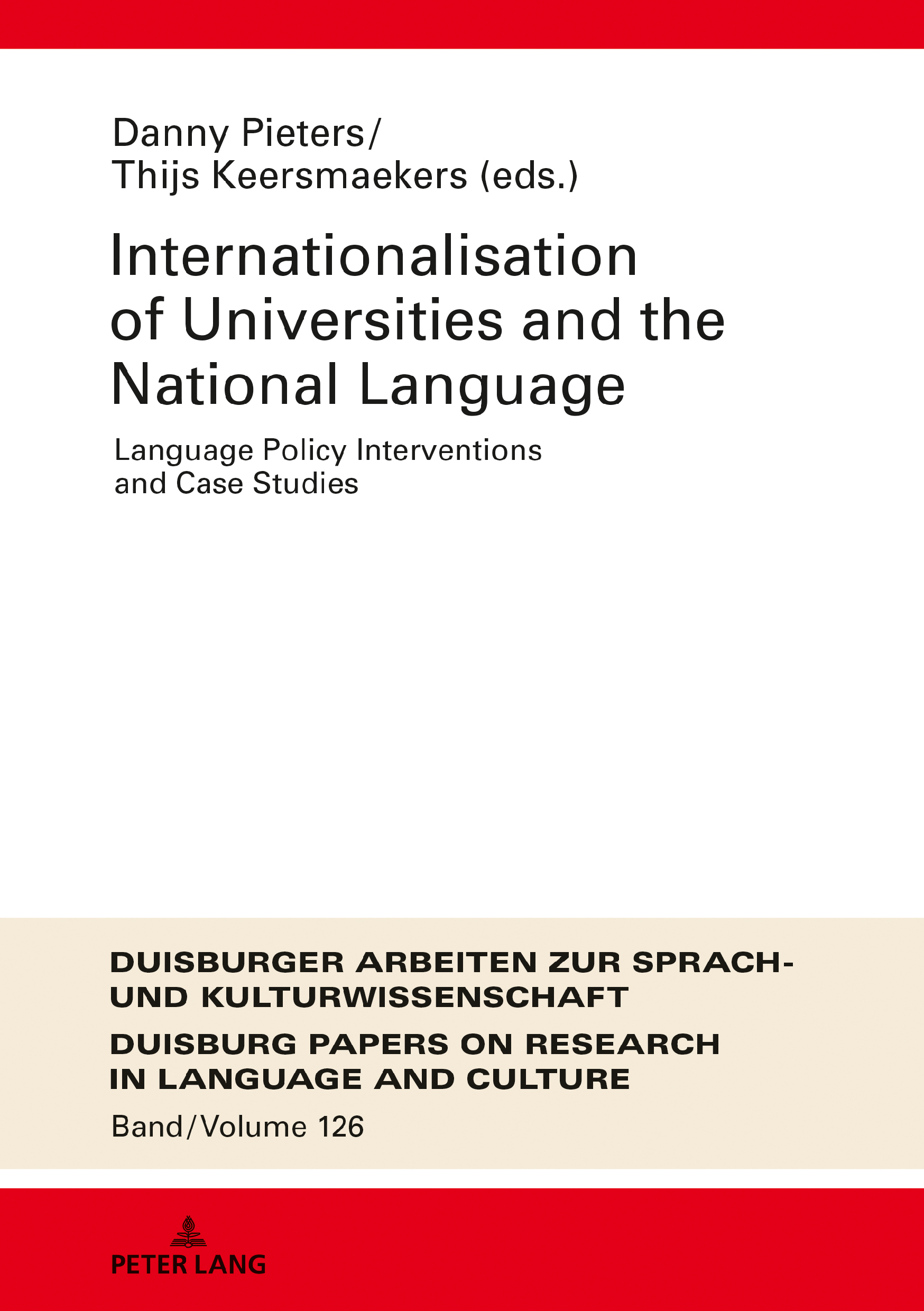 Internationalization of Universities and the National Language