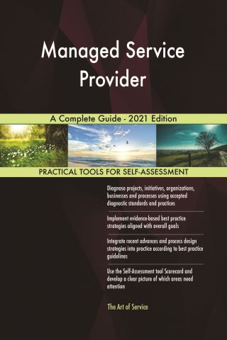 Managed Service Provider A Complete Guide - 2021 Edition