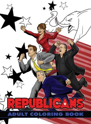 Political Power: Republicans Adult Coloring Book