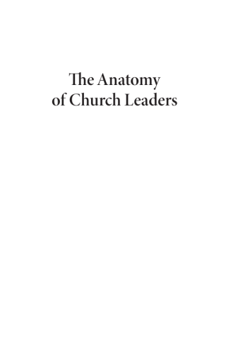 The Anatomy of Church Leaders