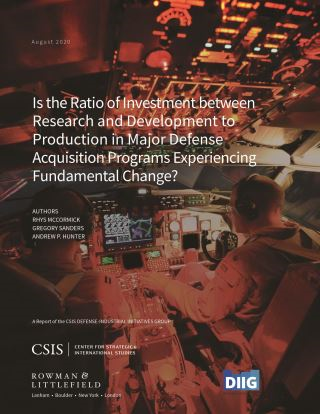 Is the Ratio of Investment between Research and Development to Production in Major Defense Acquisition Programs Experiencing Fundamental Change?
