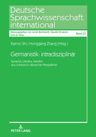 Germanistik: intradisziplinär.