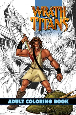 Wrath of the Titans: Adult Coloring Book