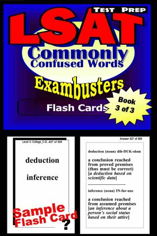 LSAT Test Prep Commonly Confused Words--Exambusters Flash Cards--Workbook 3 of 3